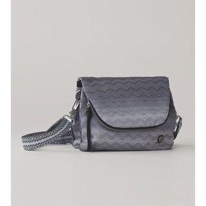 Lululemon Party Om Bag in Gradient Zig Zag / Festival Crossbody Purse Grey